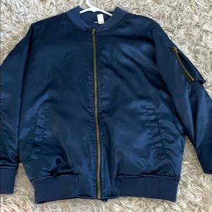 Nordstrom Navy and gold bomber jacket
